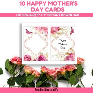 Butterfly & Roses Mother's Day Cards
