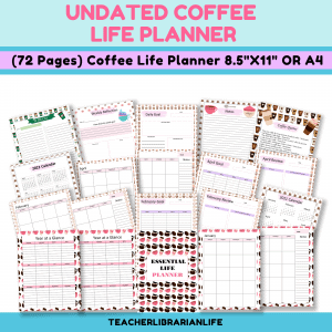 Undated Coffee Themed Life Planner